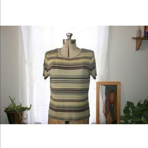 Striped LIZ CLAIBORNE shirt,women medium shirt